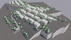 3D-Modell des Baugebietes – Illustration