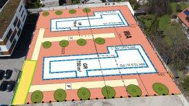 Grundstücksübersicht Neubau Freisinger Straße Erding – Illustration